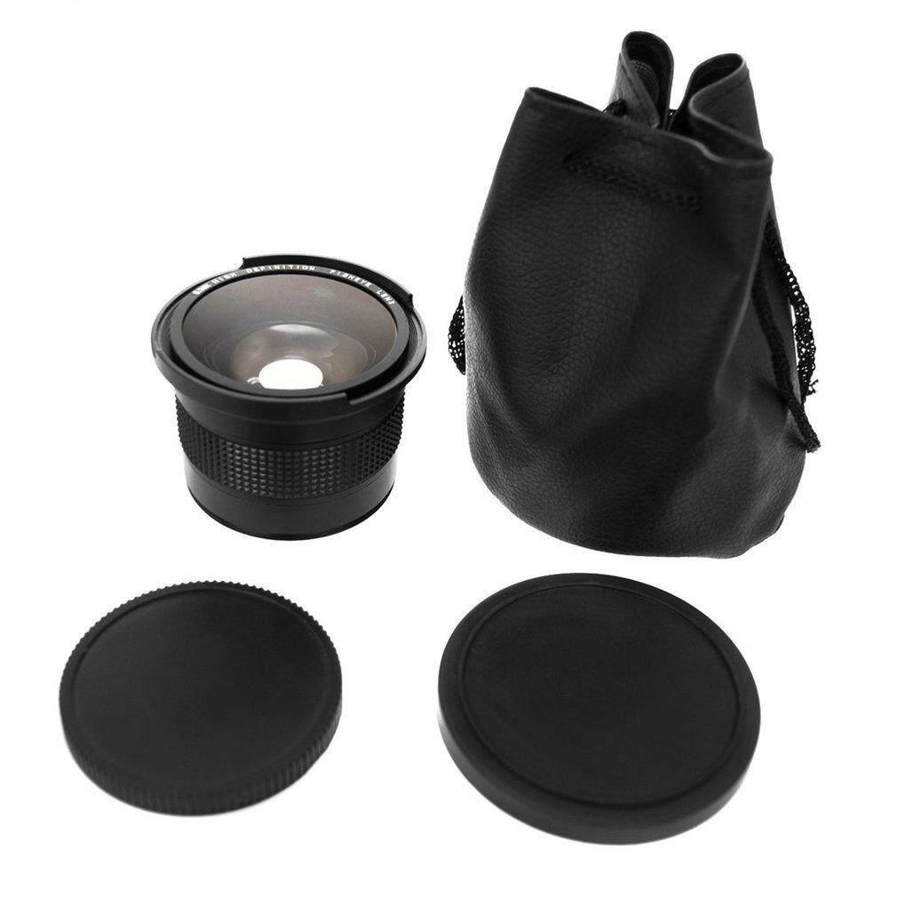 0.35X58 Mm Kamera Super HD Mata Ikan Sudut Lebar Lensa dengan Macro untuk Canon EOS