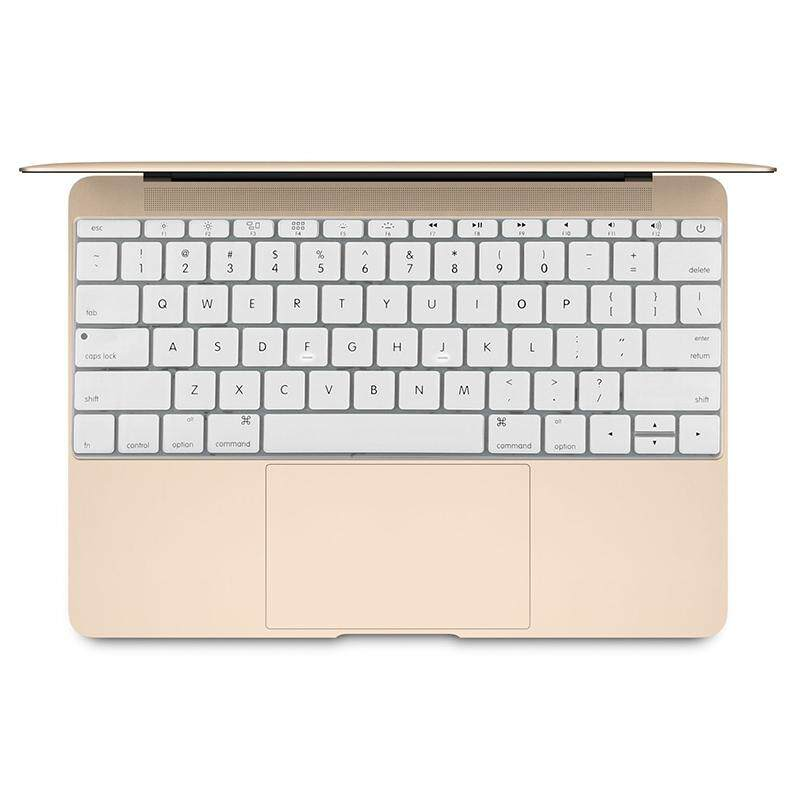 Soft 12 inch Silicone Keyboard Protective Cover Skin for new MacBook, American Version(White) Malaysia