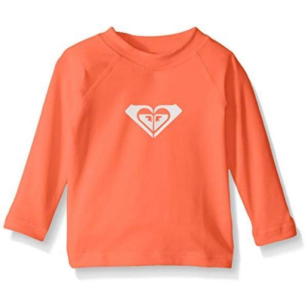 [. Amerika Serikat] Roxy Bayi Perempuan Yang Hati-hati Lengan Panjang Bayi Rashguard, Neon Grapefruit, 6 M B01M2Z0NHQ-Internasional