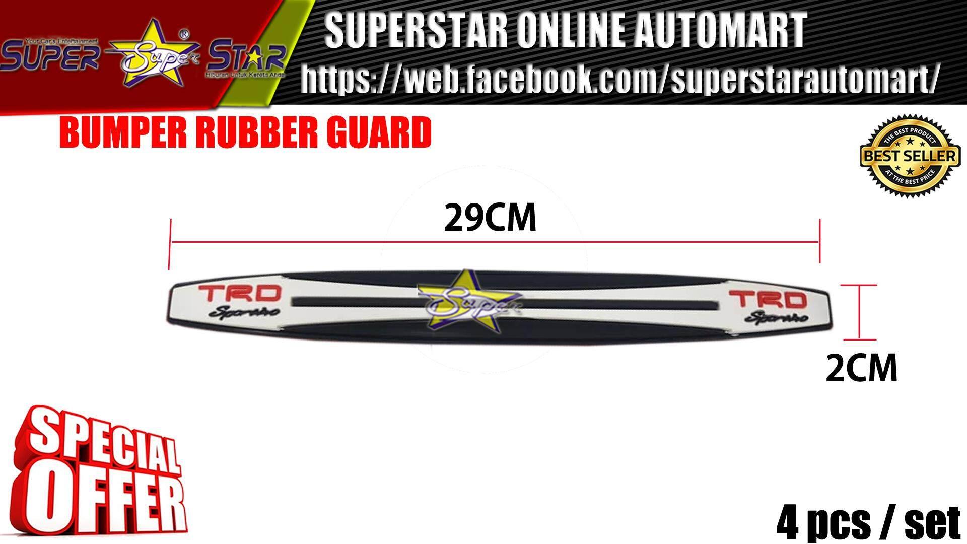 BUMPER RUBBER GUARD TRD BIG (WHITE)