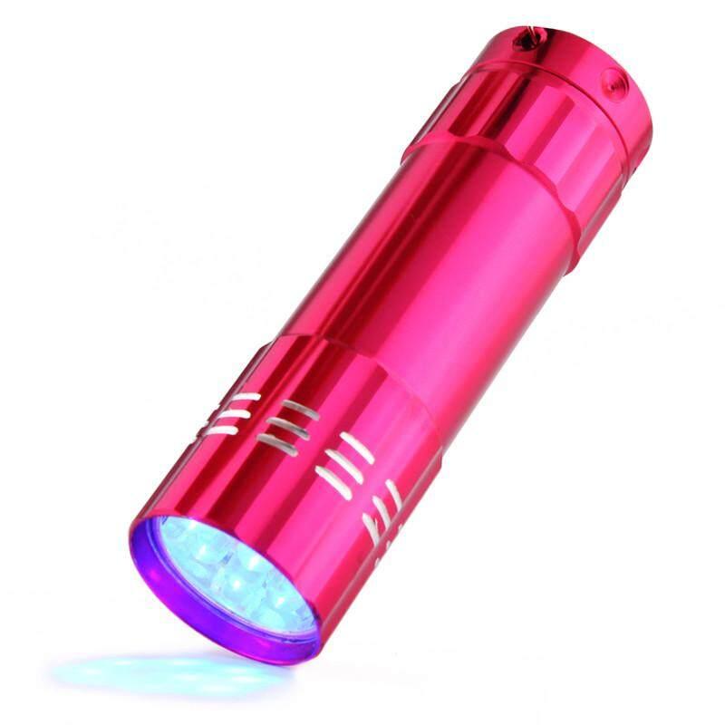 Aluminium Mini Ultra Violet UV 9 Senter LED Senter Cahaya Hitam Lampu Terang Fanestiy - 2