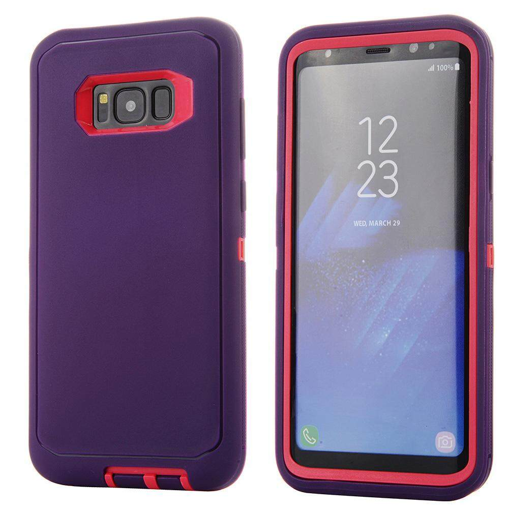 Galaxy S8 Plus/Galaxy S8+ Case, Meishengkai 3 Layers Heavy Duty Defender Hybrid Soft