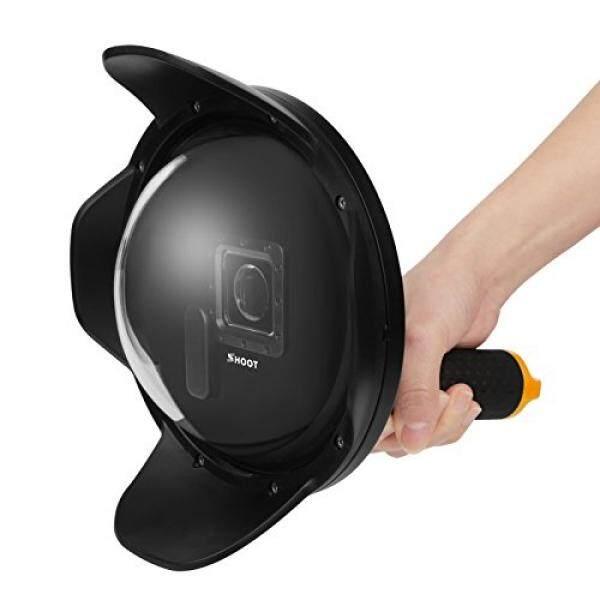 Menembak 2.0 Versi 6 Inch Menyelam Bawah Air Penutup Lensa Lensa Kubah Dome Port untuk GOPRO HERO 3 +/4 Kamera Perak Hitam fotografi Bawah Air-Intl