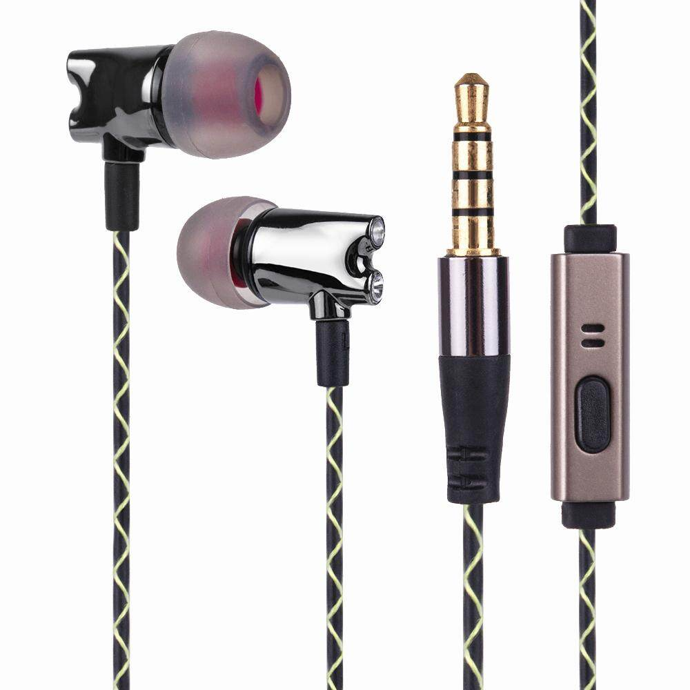 Wooeasy Berayun IE800 Earbuds HIFI Dalam-Telinga Keramik Earphone Penyumbat Telinga Earbuds dengan Mikrofon Kualitas
