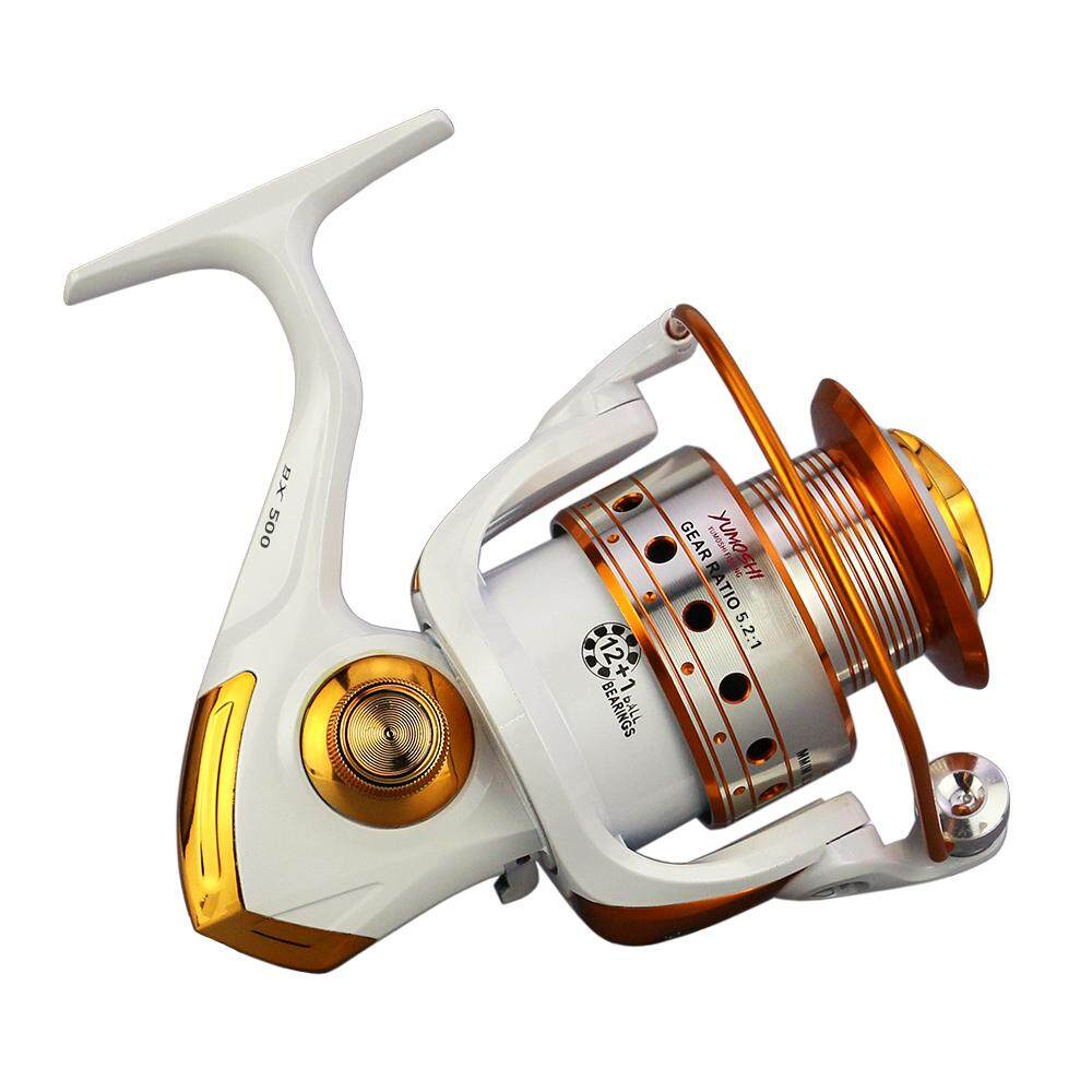 12+1 BB Fishing Reel Left/Right Interchangeable Collapsible Handle Fishing Spinning Reel Ultra ...