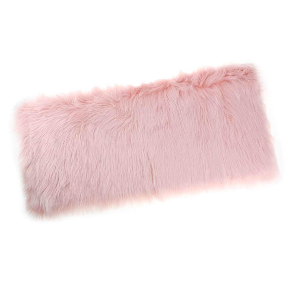 BolehDeals 80x50cm Shaggy Sheepskin Rug Soft Non Shed Carpet Rug 5cm Pile Light Pink - intl