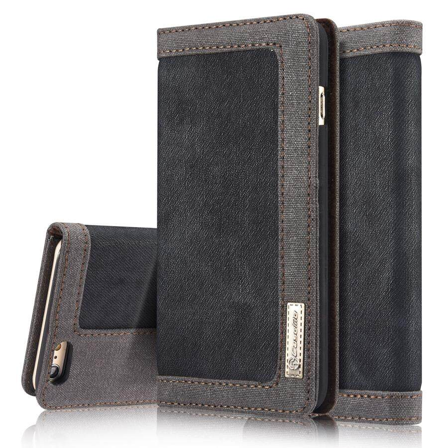 New Caseme Luxury Jeans Leather Flip Wallet Card Phone Case For Iphone 5 5S Se Business Style Stand Phone Cover Bags Intl