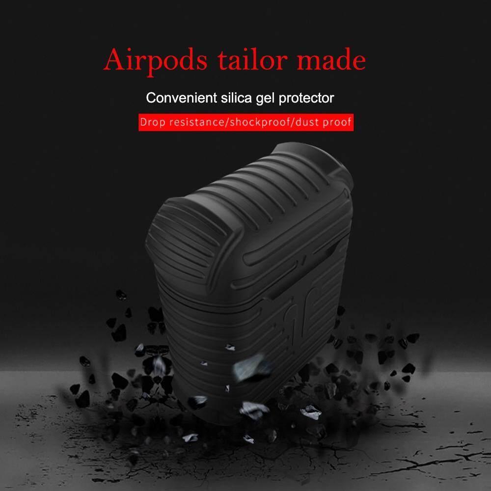 ... Sobuy Kasus Airpods 2 Bungkus Pelindung Penutup Silikon dan Kulit untuk Kasus Pengisian Airpods-Internasional ...