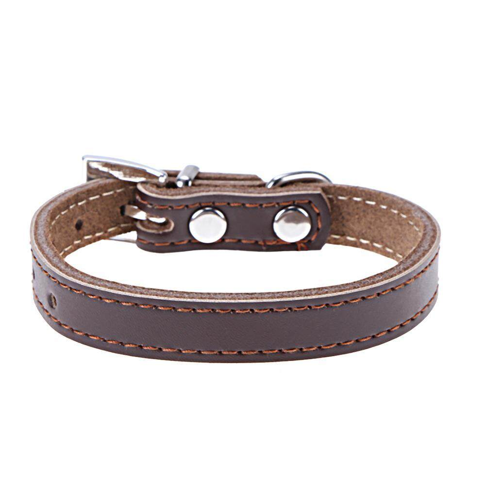 ... Anjing Dan Kucing Dog Cat Shoes Hitam Size M Source · Dog Collar PU Leather Solid Coffee Color Puppy Cat Pet Neck Belt Tie Supply Brown