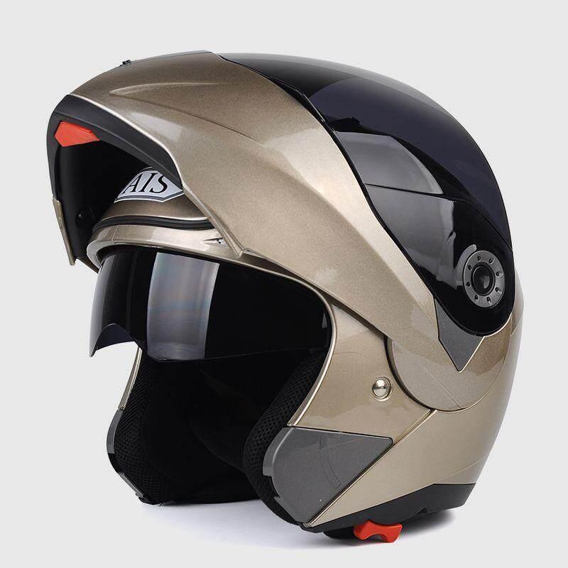 Detail Gambar YN Helm Sepeda Motor Pria Penuh Helm Tertutup Empat Musim Helm Wajah Terbuka Kepribadian