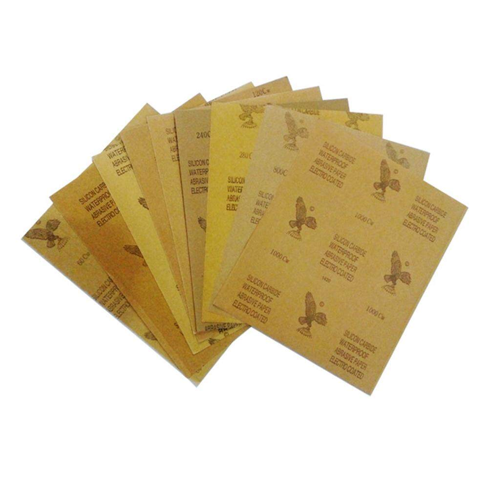 23x28cm Waterproof Abrasive Paper for Automotive Furniture Polishing Grinding 120 to 2000 Grit Sandpaper Assortment Models