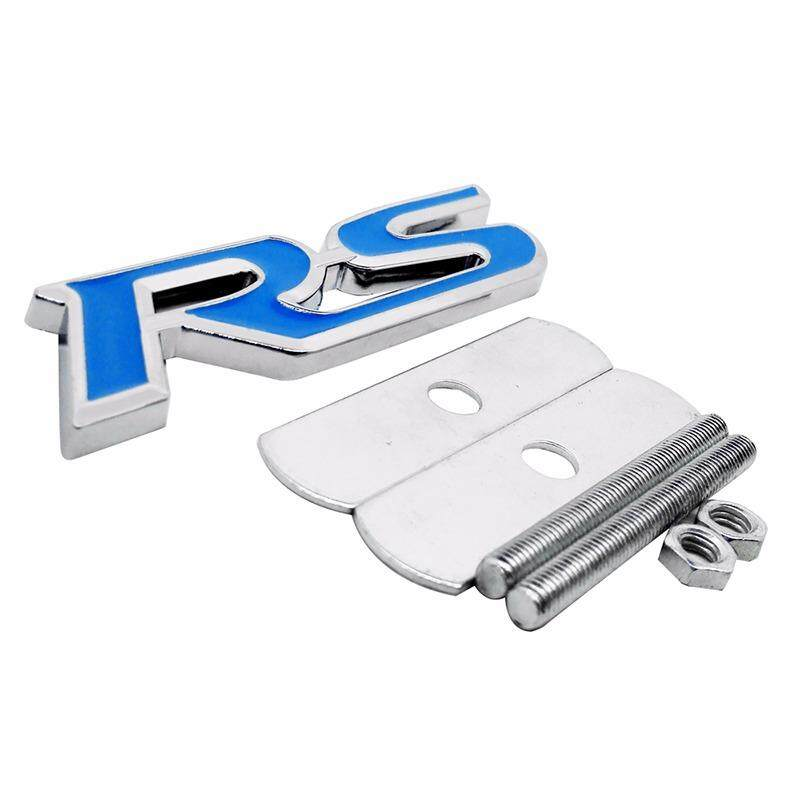 Car Exterior Accessories Front Grille Emblem Metal Sticker Badge with RS Logo for Audi a3 a4 a6 b6 b8 c6 b7 q5 - intl