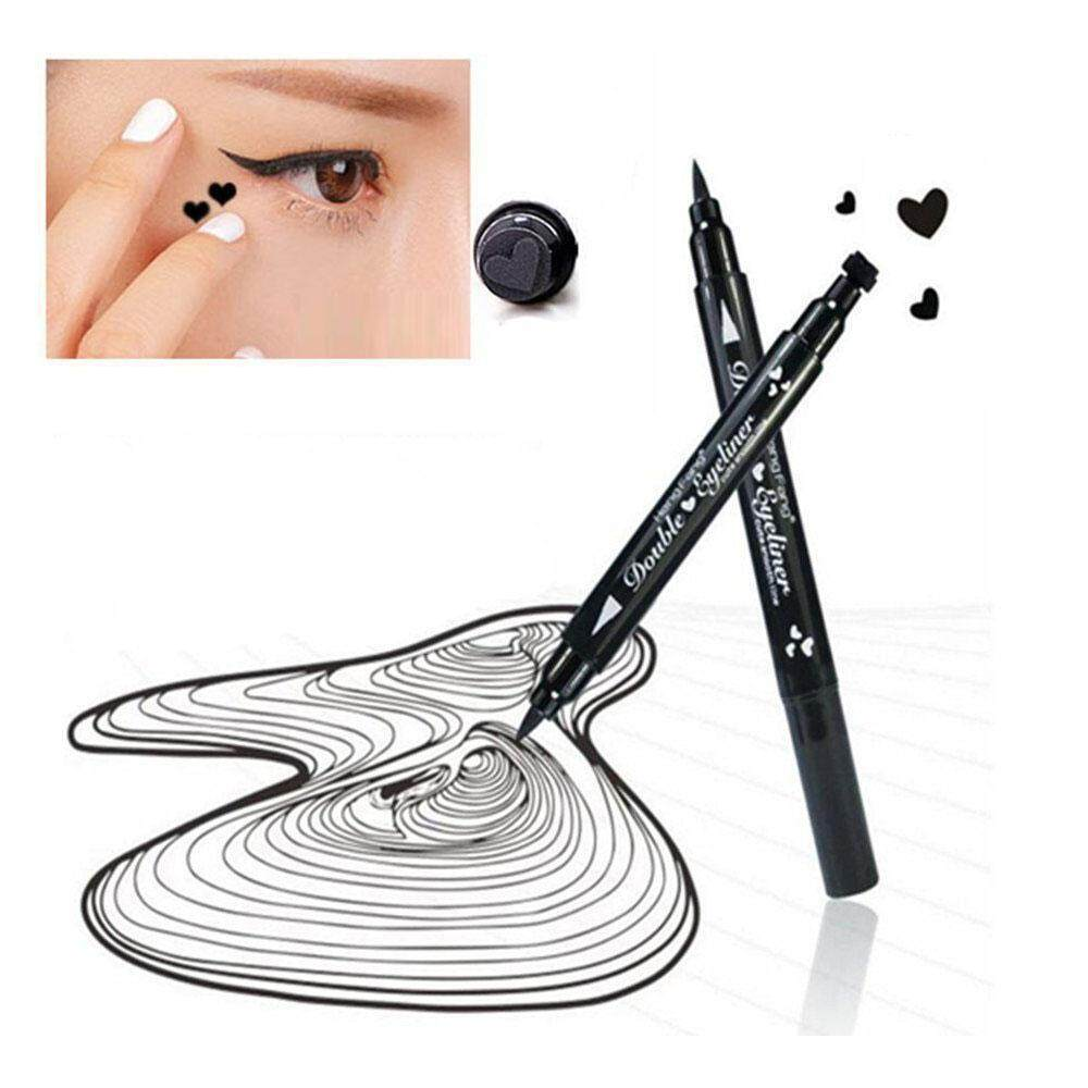 leegoal Eyeliner Pencil Pen With Eye Makeup Stamp,Waterproof Double Sided Long Lasting Seal Eyeliner Cosmetics Tool(Heart) - intl Philippines