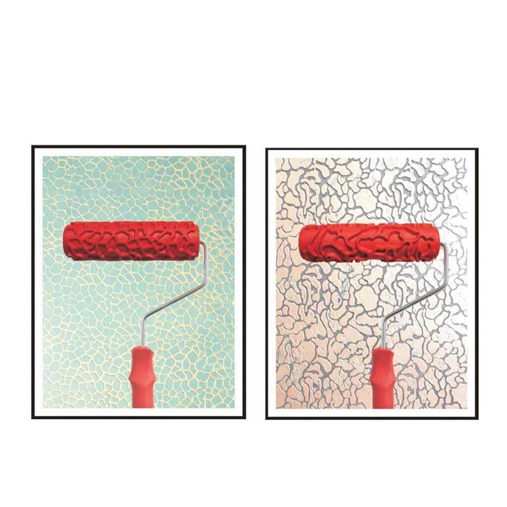 BolehDeals Bộ 2 cái 7 Dập Nổi Họa tiết hoa văn thanh Lăn Dụng Cụ Treo Tường DIY Trang Trí 6 #-quốc tế