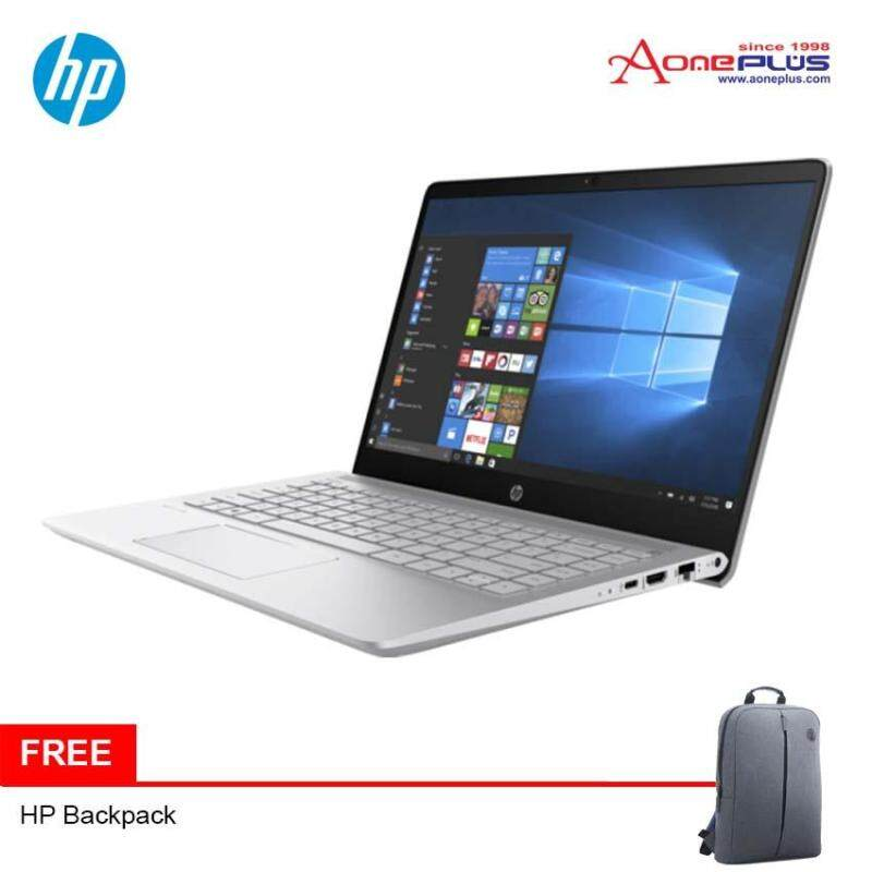 HP Pavilion 14-bf105TX (Silver) i7-8550U/GT940MX-4GB/14.0FHD Laptop + Free BackPack Malaysia