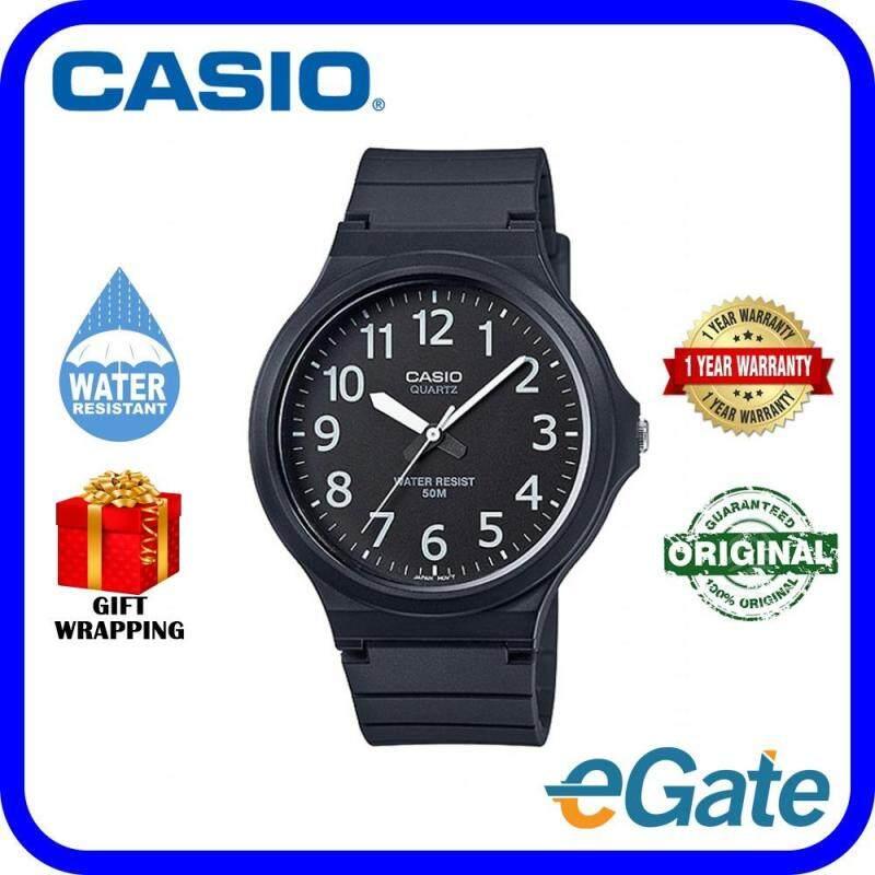 Casio MW-240-1BV Analog Unisex Watch Black White Casual Original Malaysia