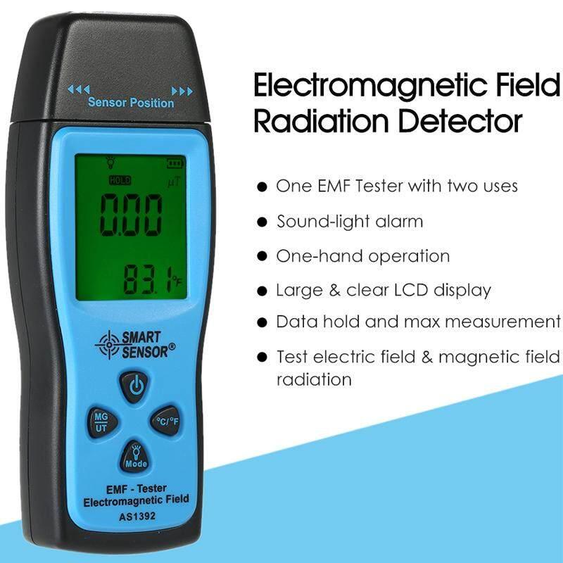 Smart Sensor AS1392 LCD Digital Genggam Mini Dosimeter Radiasi Penguji EMF Medan Elektromagnetik Detektor Radiasi Biru + Hitam-Internasional