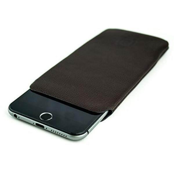 Kulit Sintetis Lengan untuk iPhone 8 PLUS PLUS 6 Plus dan 6 S Plus dengan Dockem-Ultra Ramping Profesional Eksekutif Dompet Kulit Palsu Case-Intl