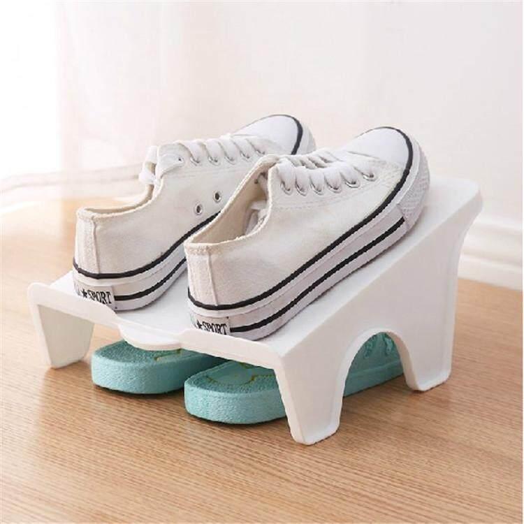 Jayoyi New Plastic Shoe Rack Double Shoe Shoe Box Shoe Storage Box Holder Rack Living Room Convenient Organizer Stand Shelf - intl