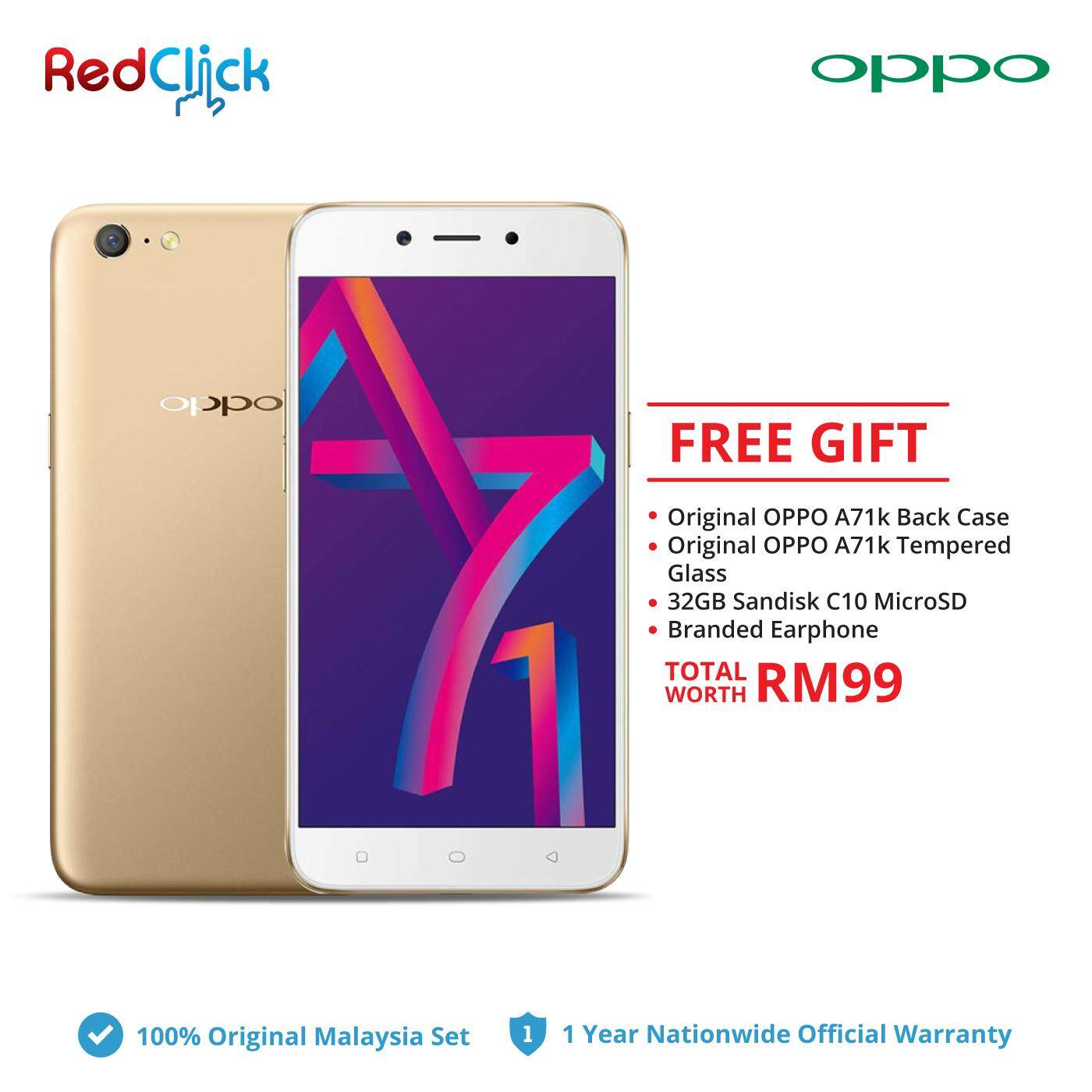 Oppo A71k Cph1801 2gb 16gb 4 Free Gift Worth Rm 99 Malaysia A37 New 4g 5 Inch Ram Rom