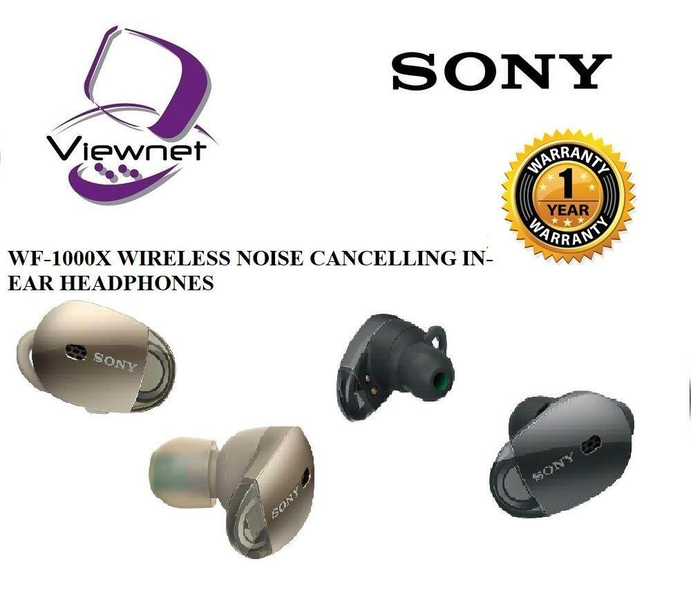 GENUINE SONY WF-1000X BLUETOOTH NOISE CANCELLING COMPACT DESIGN CLEAR SOUND COMFORTABLE FIT