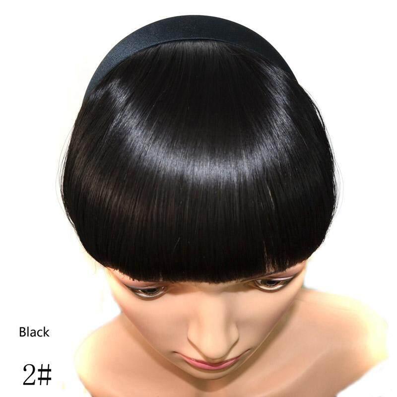 Wanita Alami Bang Rambut Palsu Poni Hitam Cokelat Blonde Klip Di Atas Rambut  Sintetis Fringe- 3ec577d391