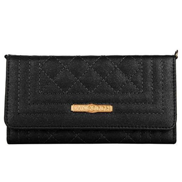 Vangoddy Womens PU Leather Diamond Quilt Universal Wallet Case Handbag Clutch w/ Chain Strap for Samsung Galaxy S9+ / S9 / S8 Active / S8 / A7 C7 J7 / J7 Pro Max Perx / J7 V / C7 Pro (Black) - intl