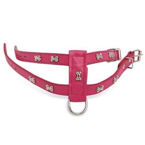 Dapat Disesuaikan Tidak Menarik Tulang Stud Desain Anjing Peliharaan Memanfaatkan Tali Set (Merah Muda)