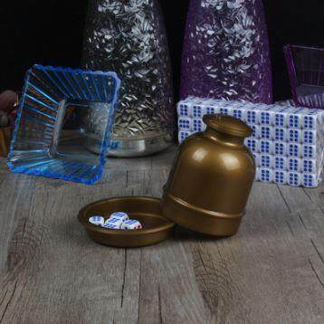 [Ready Stock] Dice Cup KTV Set with Free 6 dices & Bottom Cover