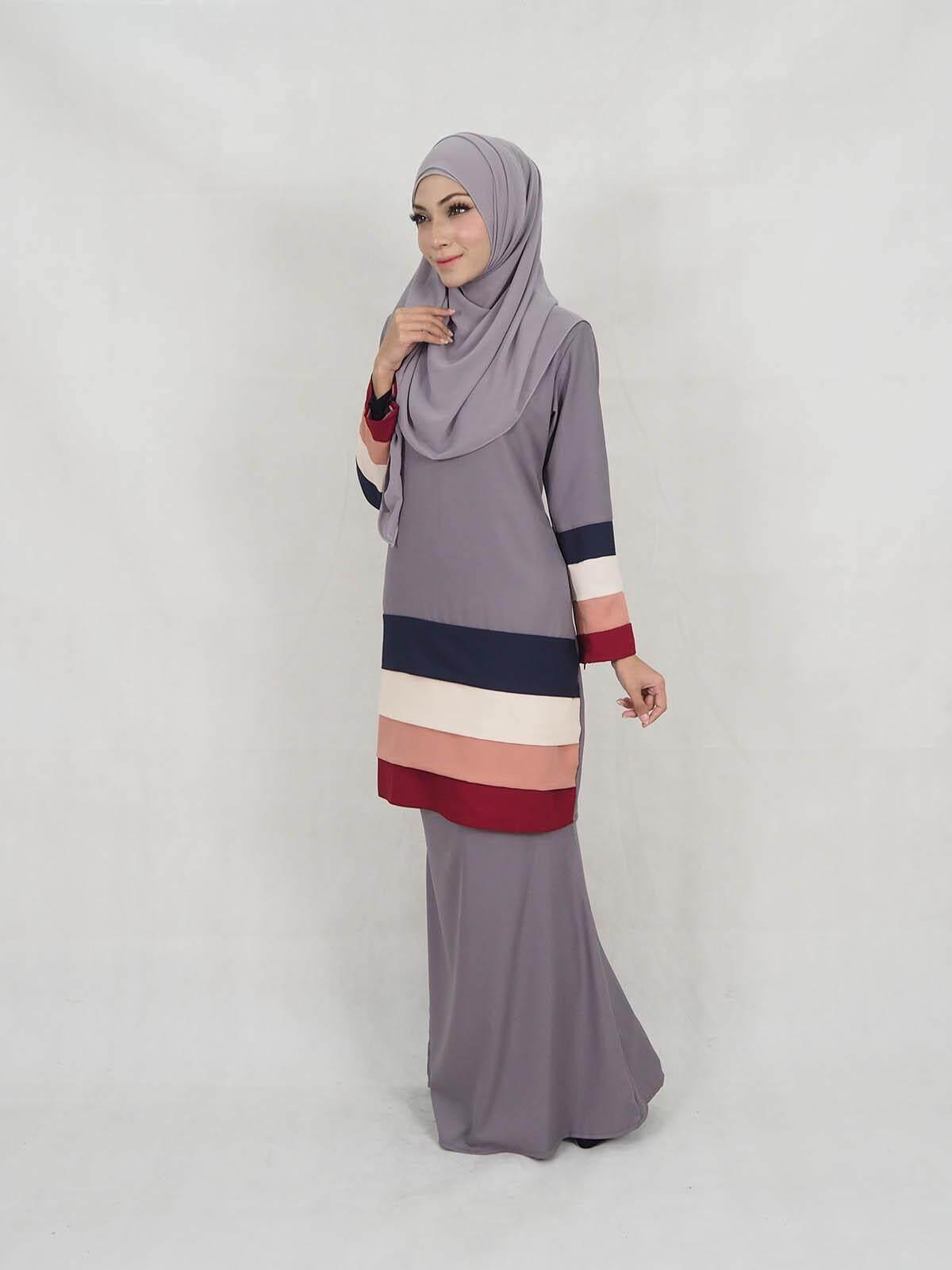 Kefli Colourful Baju Kurung / Muslimah Baju Kurung / Muslim Women Fashion Modern Baju Kurung (XXS-XL) / Women Dress Baju Raya Peplum Baju Kurung Moden 2019