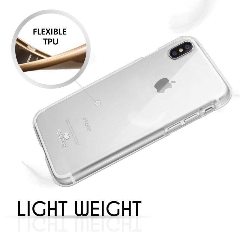 iPhone X Transparent Soft TPU Case - Mercury Goospery