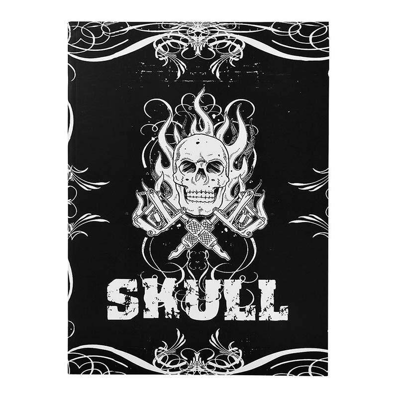 76 Pages Selected Skull Design Sketch Flash Book Tattoo Art Supplies A4 Book - intl