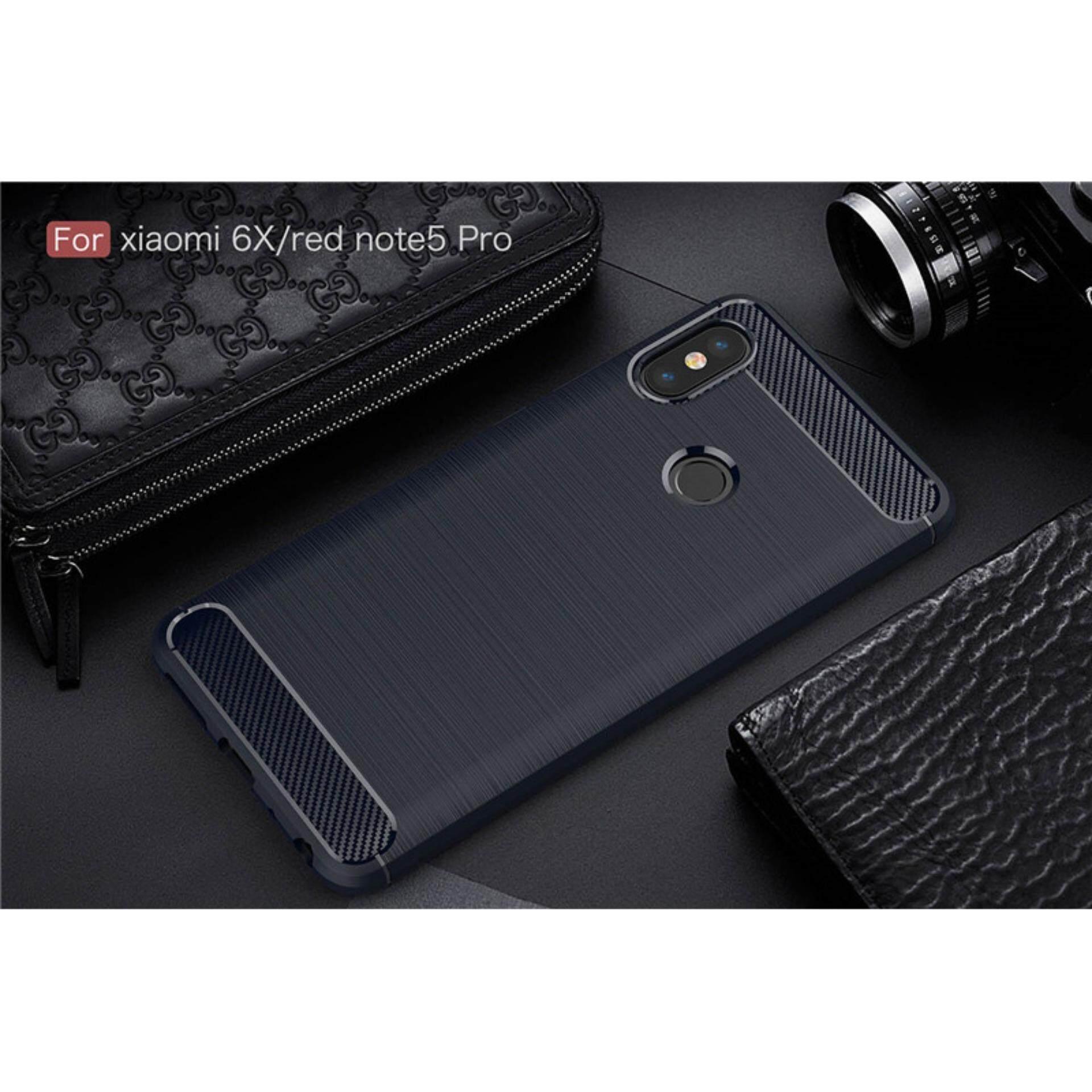Detail Gambar Karbon Kasar Pelindung Sarung Case untuk Xiaomi Redmi Note 5 Pro-Internasional Terbaru