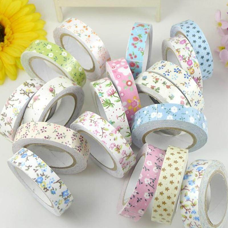 Flower Printing Fabric Decorative Self Adhesive Washi Tape Sticky Paper Sticker New By Moonbeam.