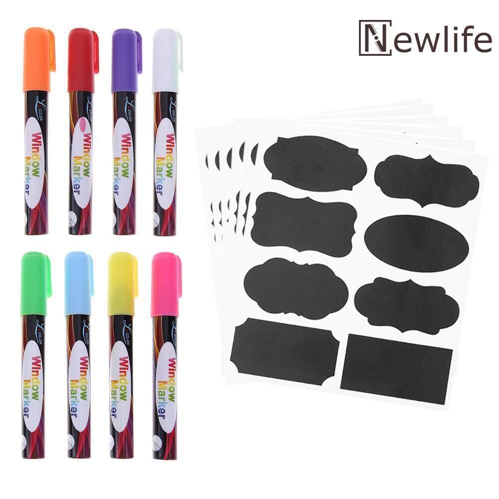 Mua 8pcs Water Ink Sketch Marker Pens Highlighters+24pcs Blackboard Stickers - intl