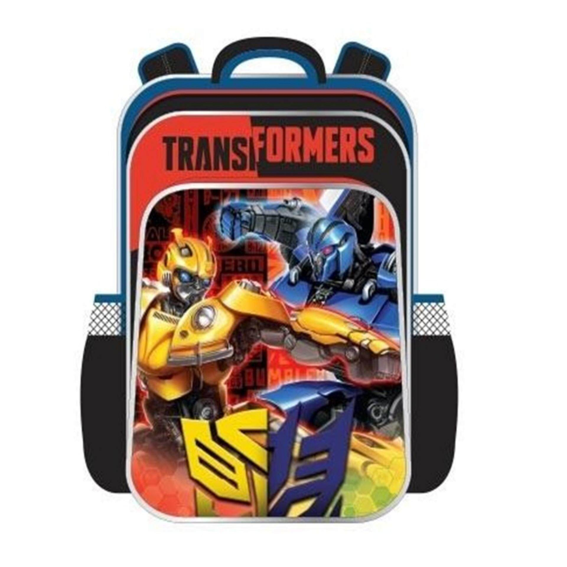 Transformers Bumblebee Primary School Bag Backpack - Red Colour