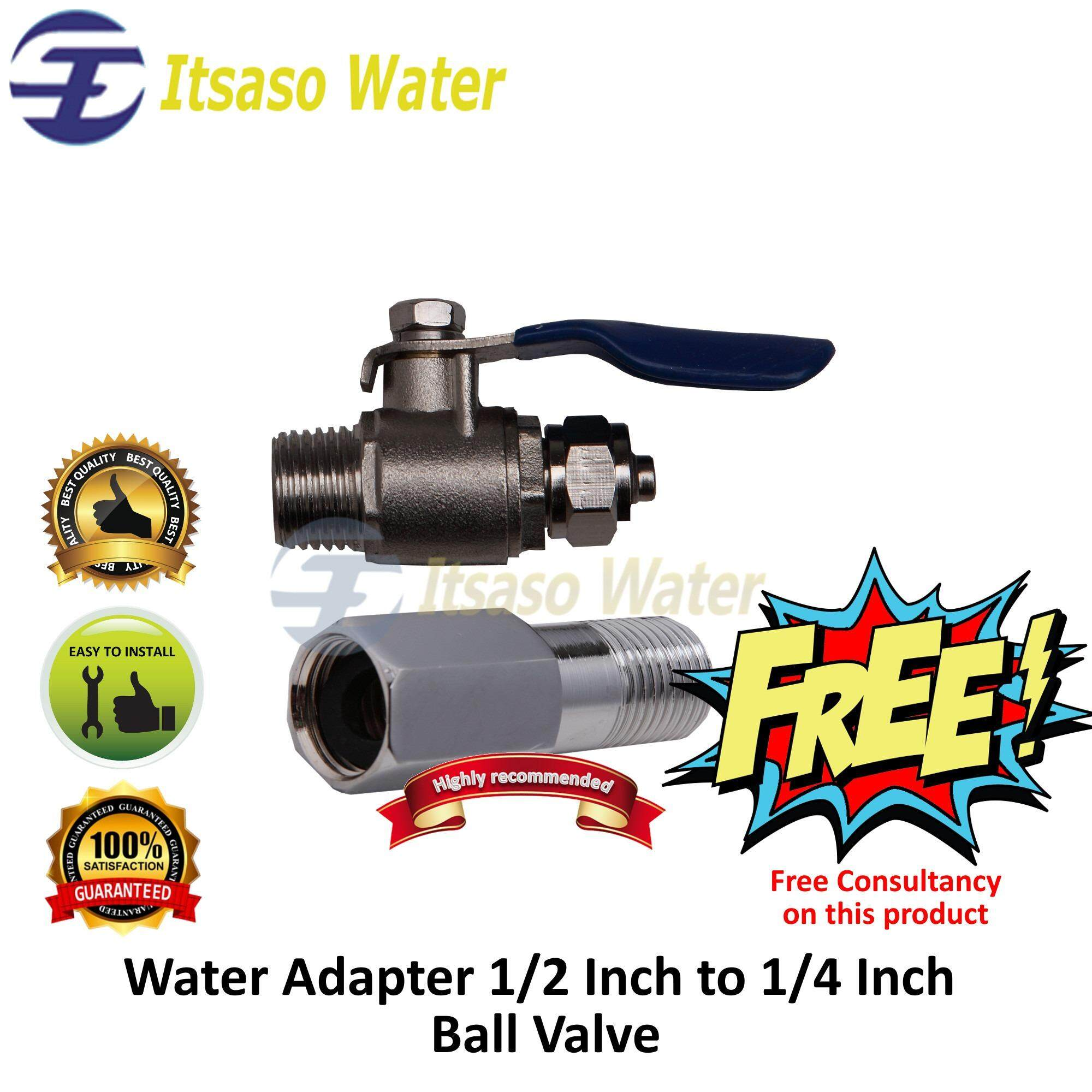 Water Adapter 1 2 Inch to 1 4 Inch Ball Valve