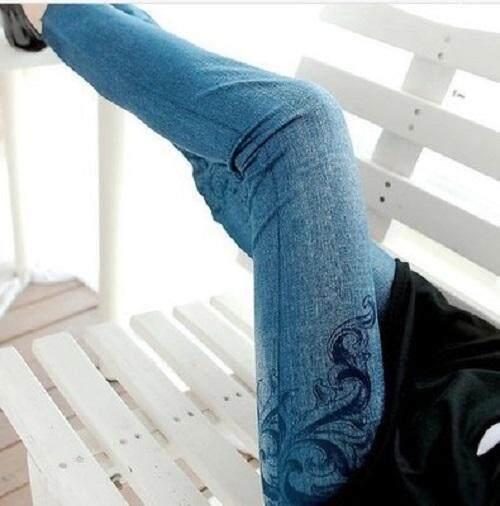 (Pre Order 14 DAYS) JYS Women Fashion Legging 114-767-J (Blue) ONE SIZE