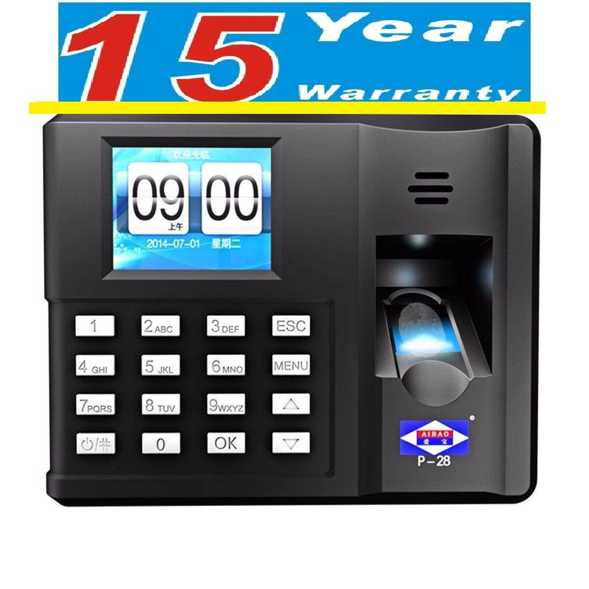 ( 15 YEARS WARRANTY ) Biometric Fingerprint Time Attendance Clock Recorder Reader Machine