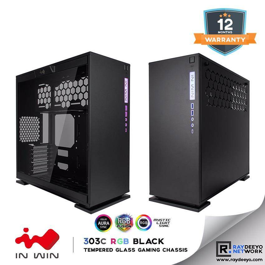IN WIN 303C RGB (BLACK) Tempered Glass Gaming Chassis [ATX, Matx, Mini-ITX] Malaysia