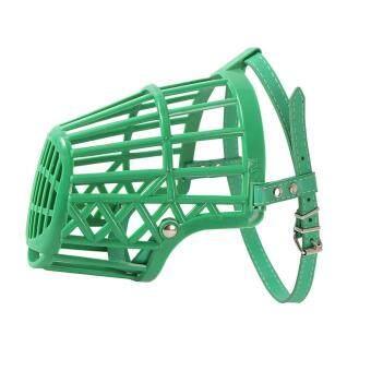 Harga preferensial BolehDeals Dapat Disesuaikan Keranjang Mulut Moncong Sarung untuk Anjing Pelatihan Kulit Gigitan Hijau #