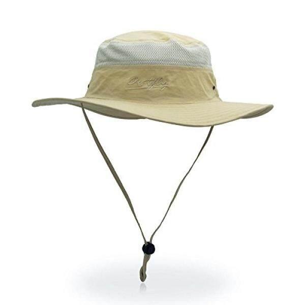 Yoyeah Outdoor UPF 55 + Boonie Topi Jala Luar Topi Pantai Ember Topi Topi  Memancing Khaki 01c8f2d92e