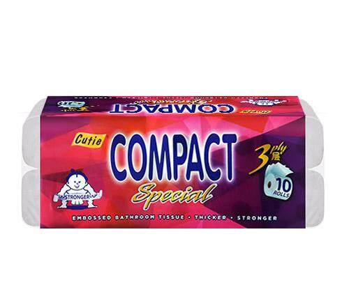 [Ready stock]Malaysia Cutie Compact 3 Ply Tissue x 10 Rolls