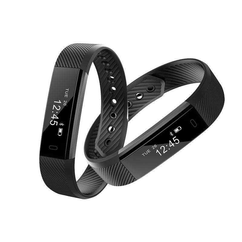 ID115 Smart Bracelet, Wireless Fitness Tracker Wristband, Step Counter Activity Monitor Alarm Clock Vibration Smart Band for iPhone Android Phones Models:ID115