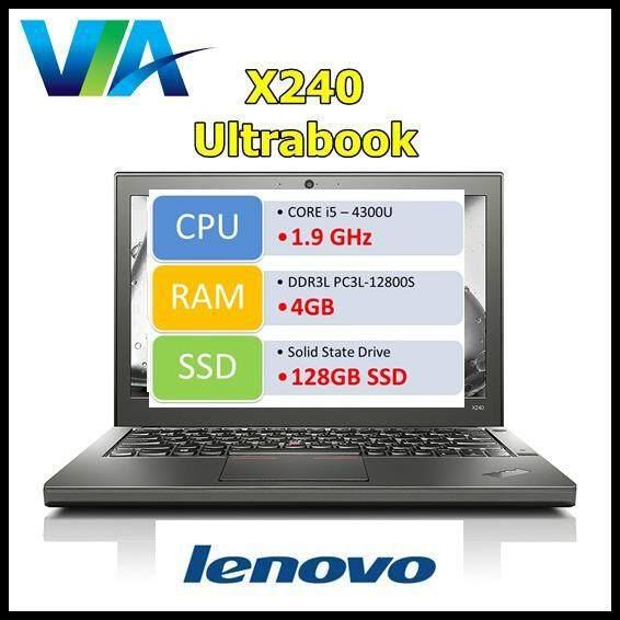 Refurb Laptop Lenovo X240 Ultrabook~Core i5~4Gb~128Gb SSD~W10 Malaysia
