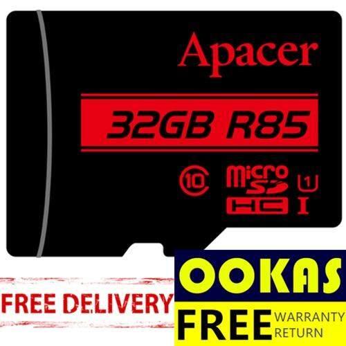 Apacer 85MB/s Micro SD Class 10 128GB/64GB/32GB/16GB/