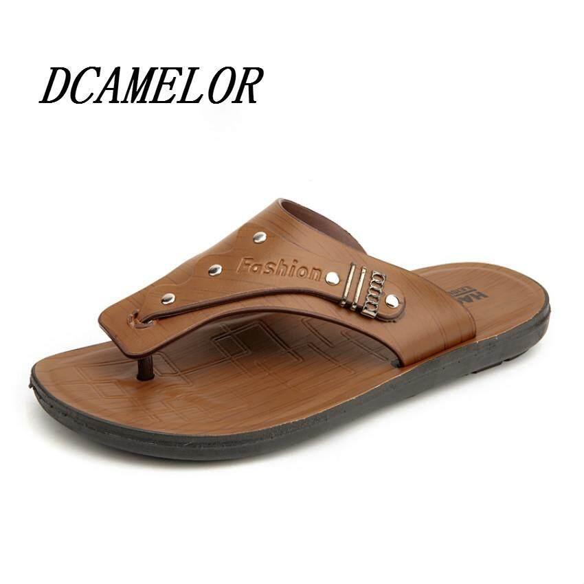 Zhaizubuluo Datar Dan Sporty Pria Kulit Sandal Sepatu Usaha Tata Source · 2018 New Korean Fashion Mens Beach Shoes Leather Slippers Shoes Sandals High ...