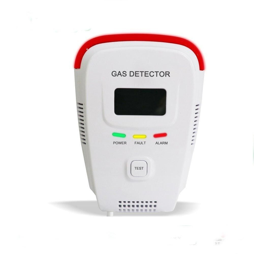 Gas alarm YK818 live voice alarm LCD screen shows the concentration of red light flashing alarm # EU