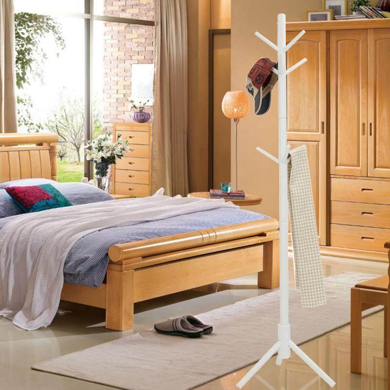 Creative furniture, solid wood hangers, floor coat rack, clothes rack, wooden hangers, bedroom drying racks - intl
