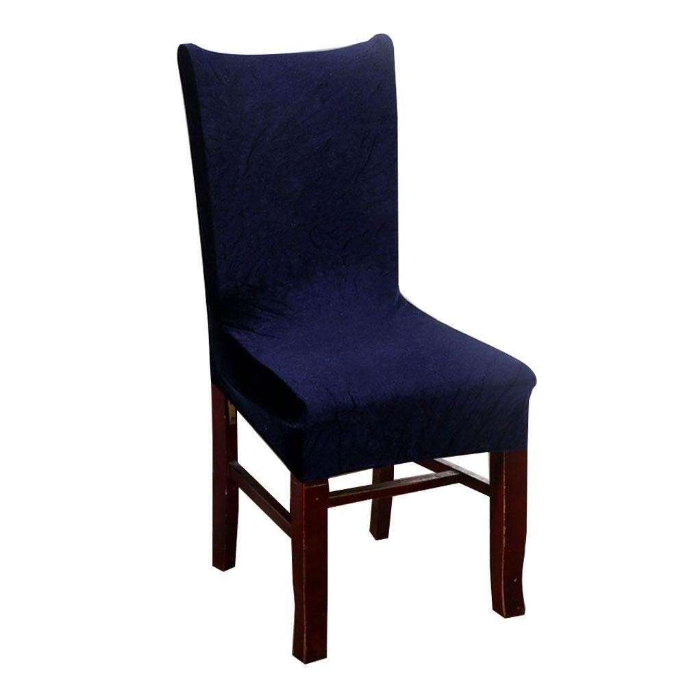 huazhong 1 Piece 8 Solid Colors Polyester Spandex Dining Chair Covers For Wedding Party Chair Cover Stretch Dining Room Chair Slipcovers - intl